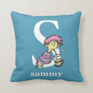 Dr. Seuss's ABC: Letter S - White | Add Your Name Cushion