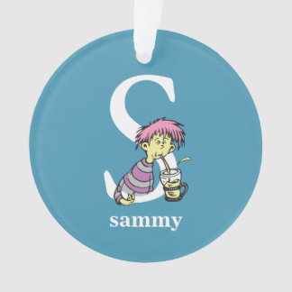 Dr. Seuss's ABC: Letter S - White | Add Your Name Ornament
