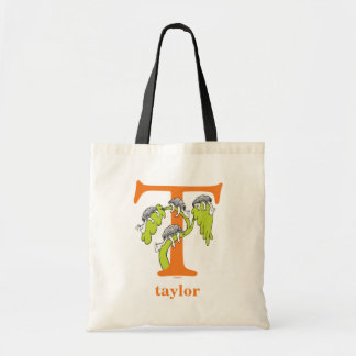 Dr. Seuss's ABC: Letter T - Orange | Add Your Name Tote Bag