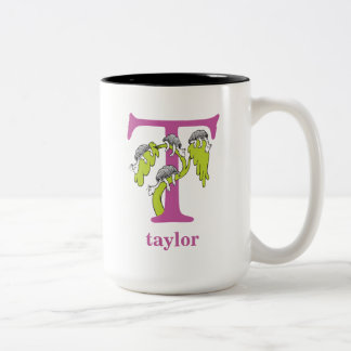 Dr. Seuss's ABC: Letter T - Purple | Add Your Name Two-Tone Coffee Mug