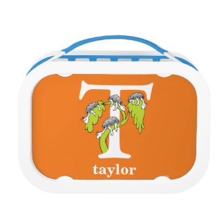 Dr. Seuss's ABC: Letter T - White | Add Your Name Lunch Box