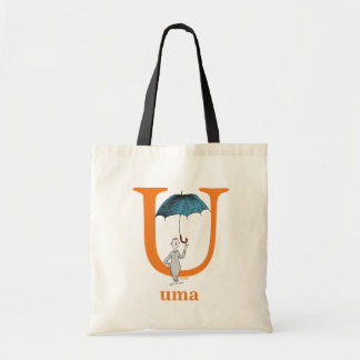 Dr. Seuss's ABC: Letter U - Orange | Add Your Name Tote Bag