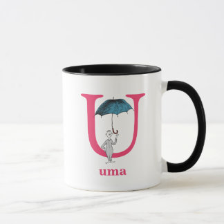 Dr. Seuss's ABC: Letter U - Pink | Add Your Name Mug