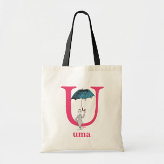 Dr. Seuss's ABC: Letter U - Pink | Add Your Name Tote Bag