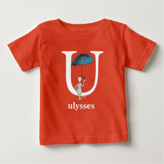 Dr. Seuss's ABC: Letter U - White | Add Your Name Baby T-Shirt
