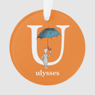 Dr. Seuss's ABC: Letter U - White | Add Your Name Ornament