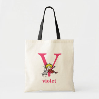 Dr. Seuss's ABC: Letter V - Pink | Add Your Name Tote Bag