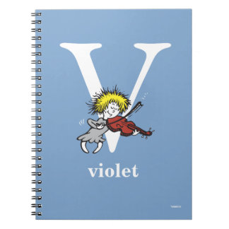 Dr. Seuss's ABC: Letter V - White | Add Your Name Spiral Notebook