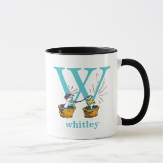 Dr. Seuss's ABC: Letter W - Blue | Add Your Name Mug