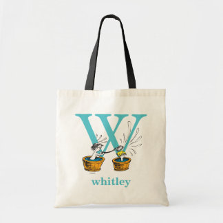 Dr. Seuss's ABC: Letter W - Blue | Add Your Name Tote Bag