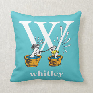 Dr. Seuss's ABC: Letter W - White | Add Your Name Cushion