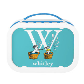Dr. Seuss's ABC: Letter W - White   Add Your Name Lunch Box