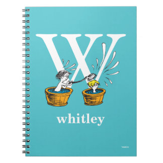 Dr. Seuss's ABC: Letter W - White | Add Your Name Spiral Notebook