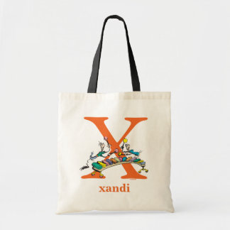 Dr. Seuss's ABC: Letter X - Orange | Add Your Name Tote Bag