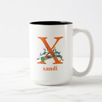Dr. Seuss's ABC: Letter X - Orange | Add Your Name Two-Tone Coffee Mug