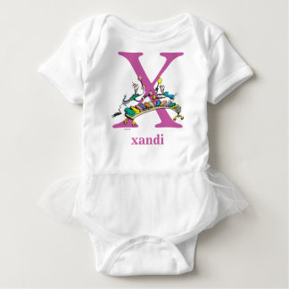 Dr. Seuss's ABC: Letter X - Purple | Add Your Name Baby Bodysuit