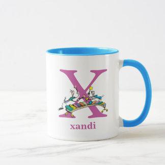 Dr. Seuss's ABC: Letter X - Purple | Add Your Name Mug