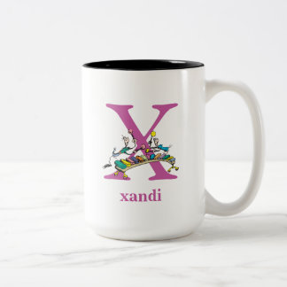 Dr. Seuss's ABC: Letter X - Purple | Add Your Name Two-Tone Coffee Mug