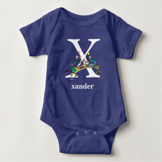 Dr. Seuss's ABC: Letter X - White | Add Your Name Baby Bodysuit