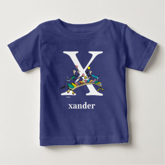 Dr. Seuss's ABC: Letter X - White | Add Your Name Baby T-Shirt
