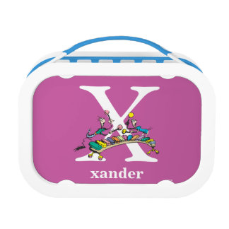 Dr. Seuss's ABC: Letter X - White | Add Your Name Lunch Box