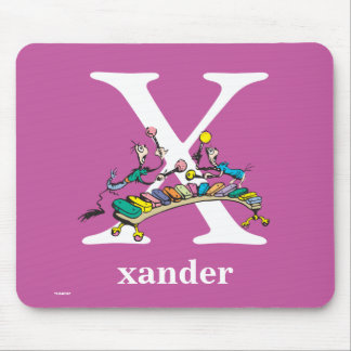 Dr. Seuss's ABC: Letter X - White | Add Your Name Mouse Pad