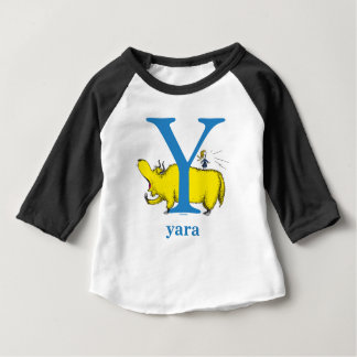 Dr. Seuss's ABC: Letter Y - Blue | Add Your Name Baby T-Shirt