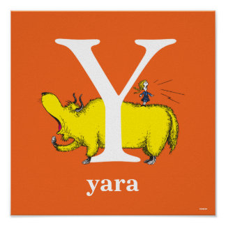 Dr. Seuss's ABC: Letter Y - White | Add Your Name Poster