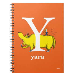 Dr. Seuss's ABC: Letter Y - White | Add Your Name Spiral Notebook