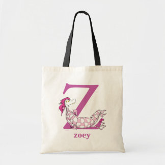 Dr. Seuss's ABC: Letter Z - Purple | Add Your Name Tote Bag