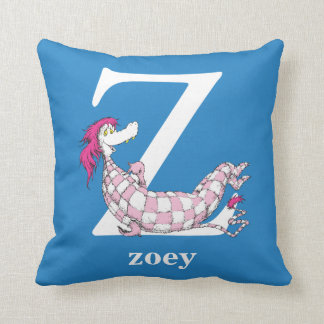 Dr. Seuss's ABC: Letter Z - White | Add Your Name Cushion