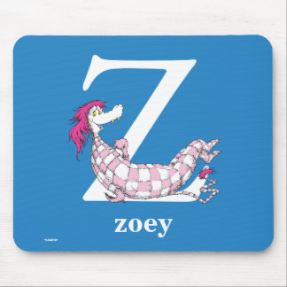 Dr. Seuss's ABC: Letter Z - White | Add Your Name Mouse Pad