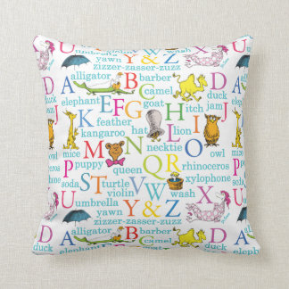 Dr. Seuss's ABC Pattern with Words Cushion