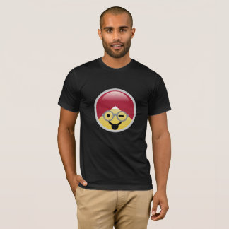 Dr. Social Media Tongue Wink Turban Emoji T-Shirt
