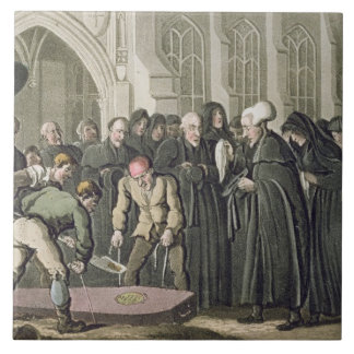 Dr Syntax at the Funeral of his Wife, from 'The To Large Square Tile