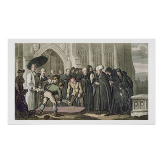 Dr Syntax at the Funeral of his Wife, from 'The To Poster