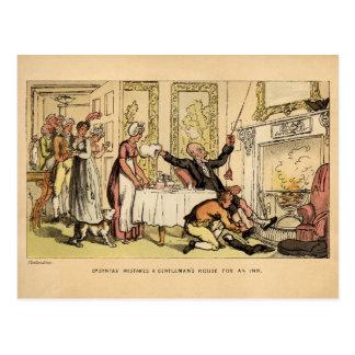 Dr. Syntax Mistakes a Gentleman's House for an Inn Postcard