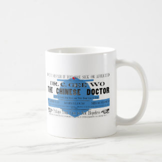 Dr Wo The Chinese Doctor Vintage Ad Basic White Mug