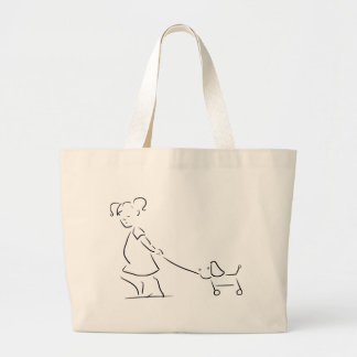 Draagtas little girl with toy large tote bag