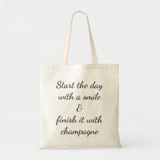 Draagtas satchel quotation laugh champagne tote bag