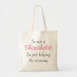 Draagtas satchel quotation shopaholic shop tote bag