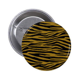 Drab Tiger 6 Cm Round Badge