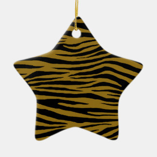 Drab Tiger Ceramic Ornament