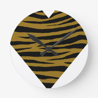 Drab Tiger GH Round Clock