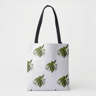 Dracaena Limelight plant scroll tote