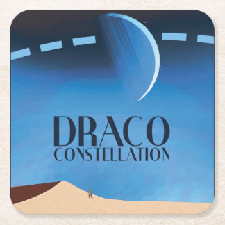 Draco Constellation Paper Coaster