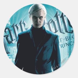 Draco Malfoy Classic Round Sticker