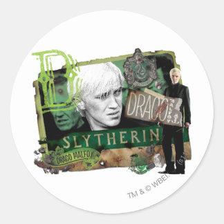 Draco Malfoy Collage 1 Classic Round Sticker