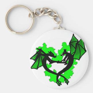 Dracolove round key chain