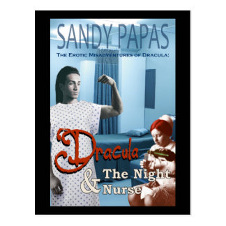 Dracula and the night nurse postcard